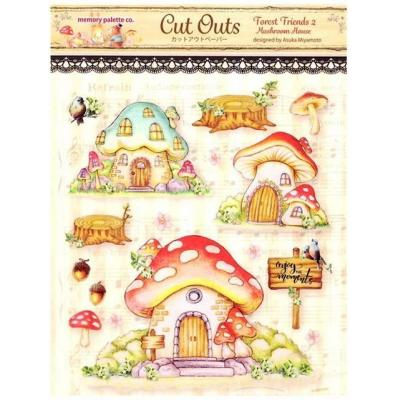 Asuka Studio Memory Place Forest Friends Die Cuts - Mushroom House